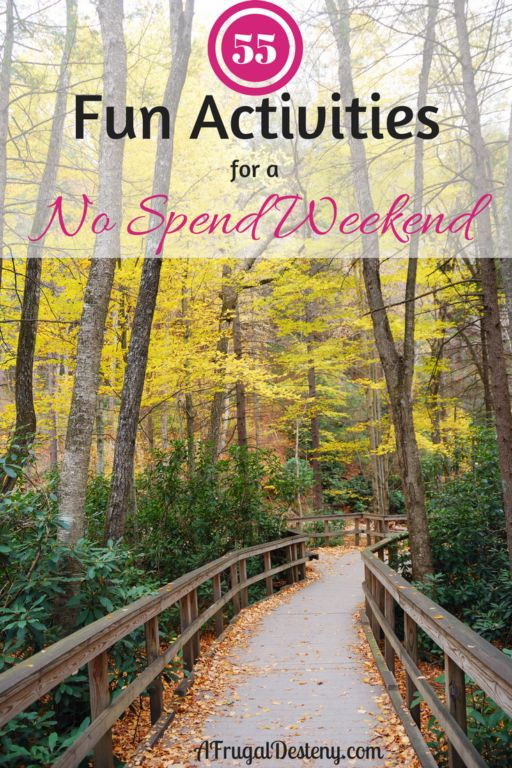 Whether you are considering trying a no spend weekend for the first time or no spend weekends are a common occurrence in your home doesn't matter. These 55 activities will leave anyone feeling satisfied about their super cheap weekend!