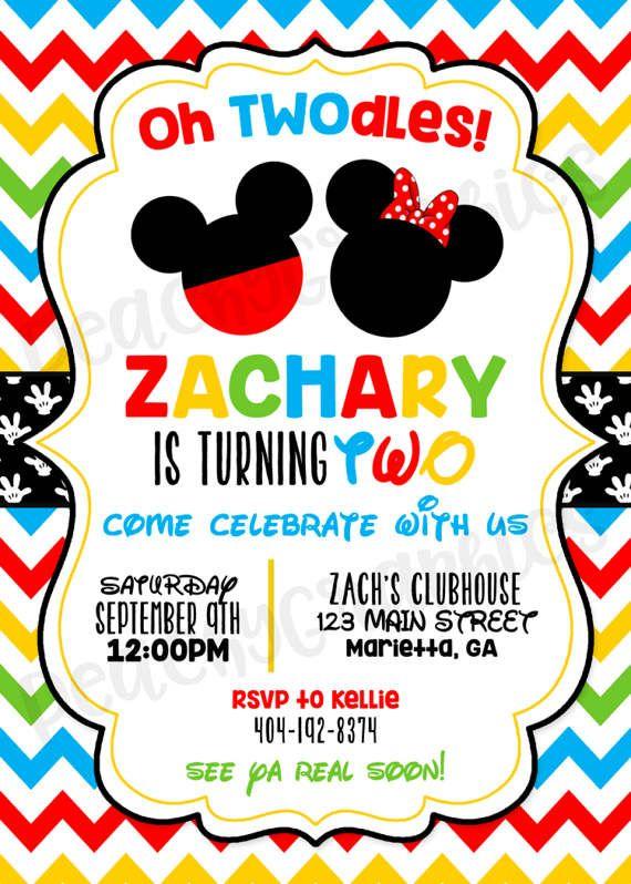 Tarjeta De Invitación De Mickey Mouse Invitaciones Mickey