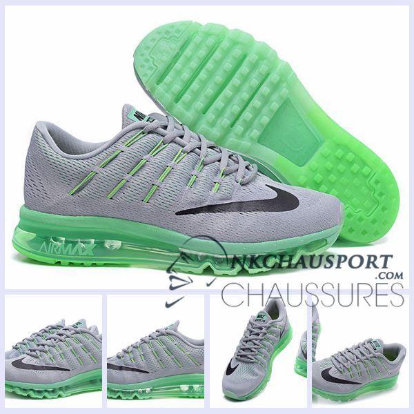 Nike Air Max 2016 | Meilleur Chaussures Running Homme Grise/Vert Clair