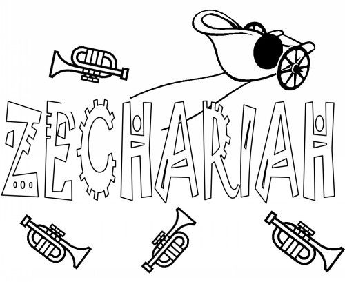 Bible Coloring Pages For Kids Free Printable Books Of The Zechariah