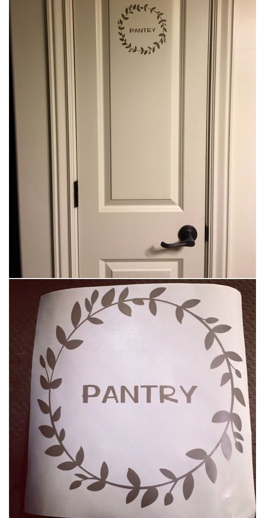 Pantry door sign made with cricut!