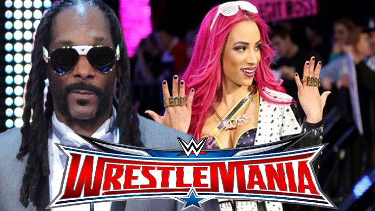WWE WrestleMania 32 - Sasha Banks given stellar introduction by SNOOP DOGG