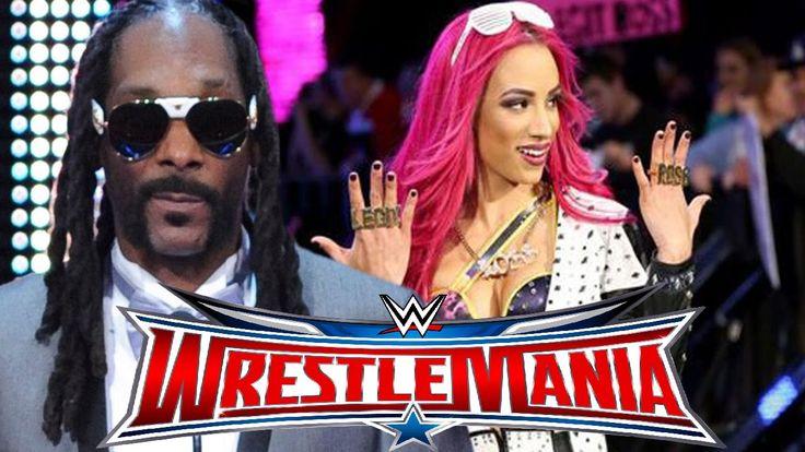 WWE WrestleMania 32 - Sasha Banks given stellar introduction by SNOOP DOGG