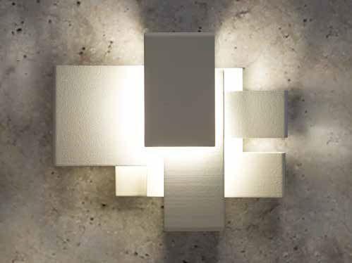 Applique murale design original / en acier inoxydable / en métal chromé / à LED - ARZY by Frank Janssens - WEVER & DUCRE
