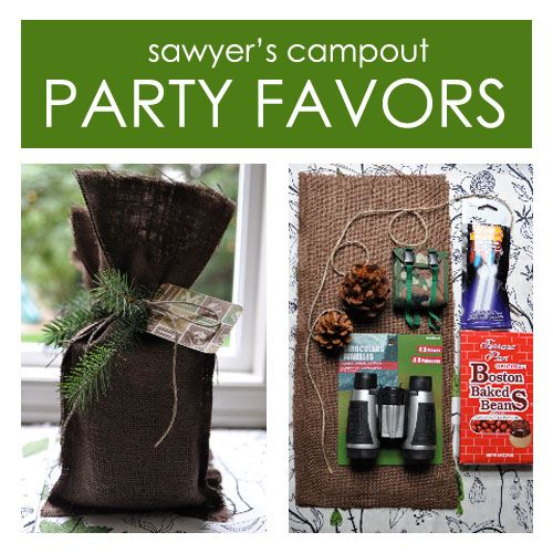 Birthday Camp Out Party Favors