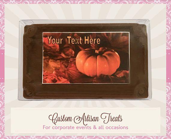 THANKSGIVING Chocolate Card & Edible Image  #papergoods @EtsyMktgTool http://etsy.me/2j8Vsr8 #thankyouchocolates #chocolatecards