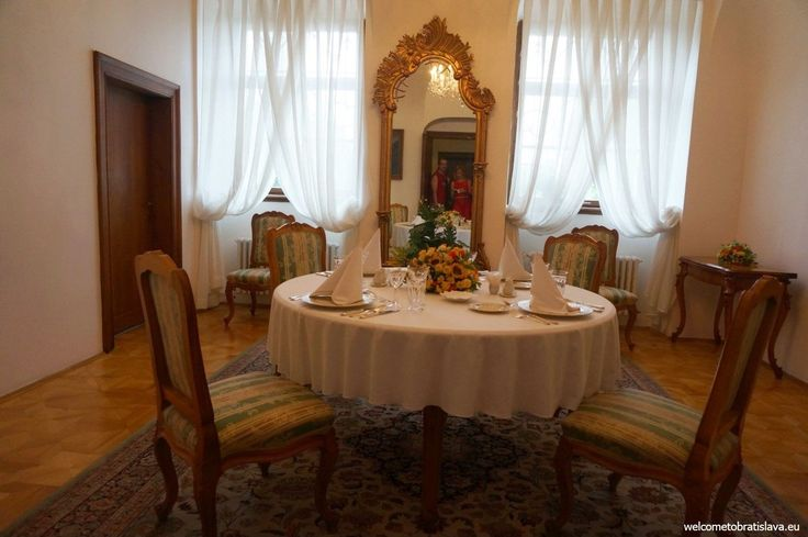 "OPEN DOOR AT THE PRESIDENTIAL PALACE - ""The Small dining room"