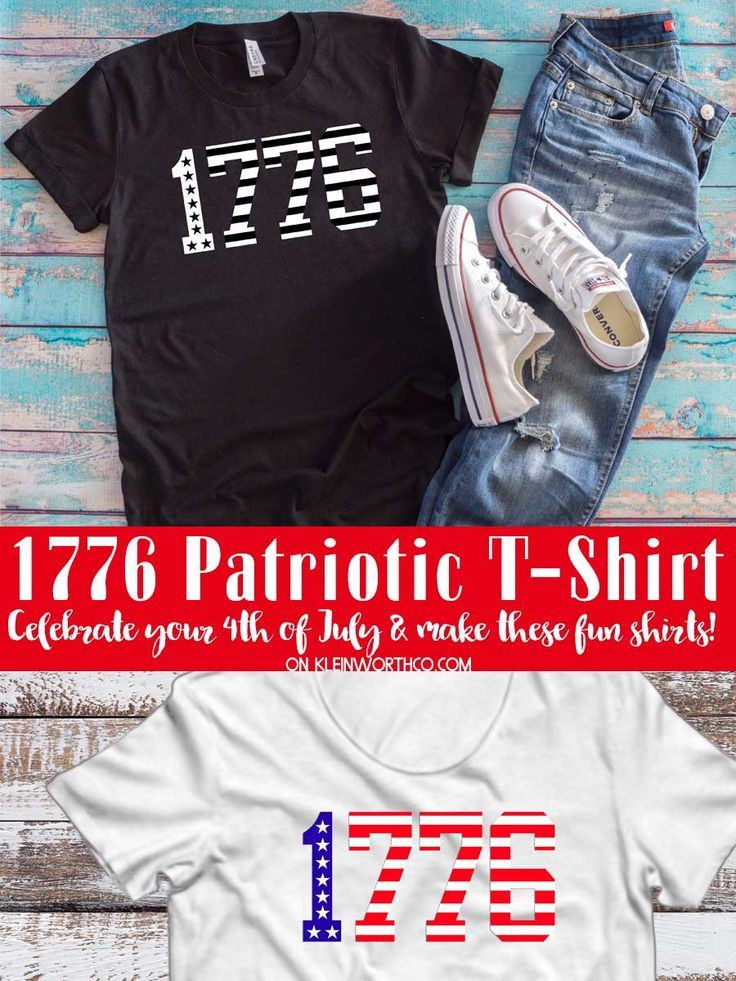 f82595ea1458 Want to make your own DIY 4th of July Shirt  Check out this 1776 Patriotic  T-Shirt you can easily make with heat transfer vinyl.