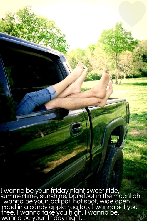 """""""Friday Night"""" -Lady Antebellum: Photo Ideas, Country Girls, Country Music, Couple Photography, Country Feelings, Couple Trucks, Friday Night, Country Night, Barefoot Blue Jeans Night"""