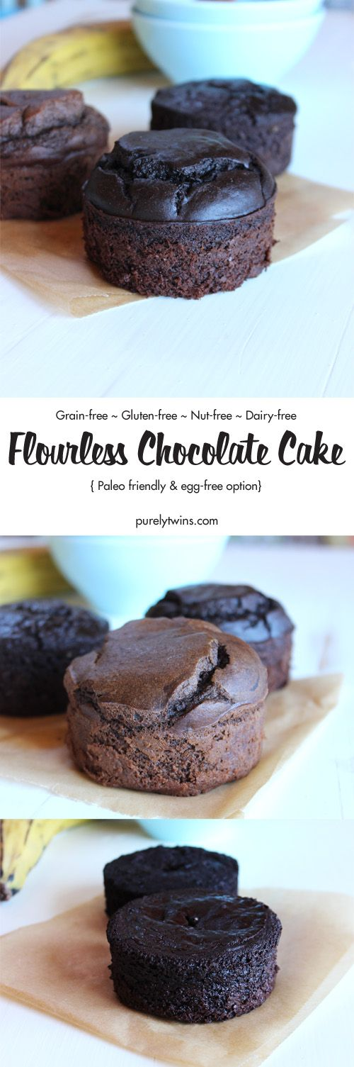 This flourless chocolate cake recipe is made with just 5 easy ingredients, it's naturally gluten-free, and it is so decadent and delicious. The perfect chocolate cake recipe when you are wanting chocolate cake but don't want to make a whole cake. Paleo. 4 different recipe options for you from plantains to tiger nut to egg-free.