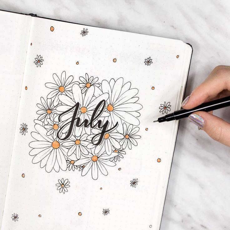 Finden Sie sofort Inspiration für die Monatsabdeckungen in Ihrem Bullet-Journal! Die ganze Id…