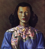 Chinese Girl Blue by Vladimir Tretchikoff