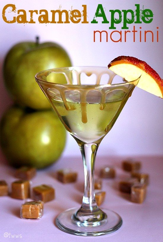 CARAMEL APPLE MARTINI 2 Oz (Apple) Vodka 1 Oz Apple Pucker 1 Oz  Butterscotch Schnapps Splash Of Apple Juice CHILL The Glass And Rim It With  Real Caramel ...