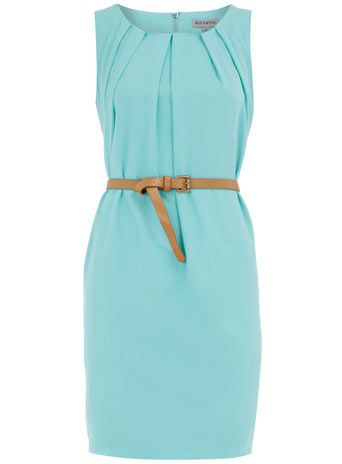 Mint Sleevess: Style, Dream Closet, Color, Outfit, Belted Dress, Work Dresses, Mint Dress