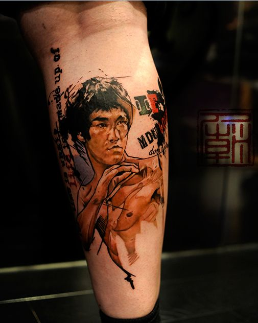 Bruce Lee by #TattooTemple #Tattoo