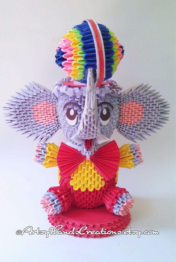 Elefante de circo de origami 3D 3d origami elefante elefante