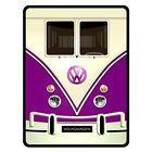 Blue VW Volkswagen Mini Vans Mini Bus Throw Fleece Blanket | eBay