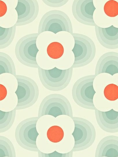 Striped Petal, a feature wallpaper from Orla Kiely, featured in the Orla Kiely Wallpapers collection.