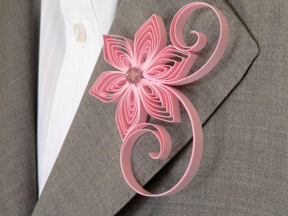 Blush Pink Boutonniere, Blush Buttonhole, Blush Wedding, Simple Boutonniere, Wedding Flower for Men, Floral Buttonholes for Weddings