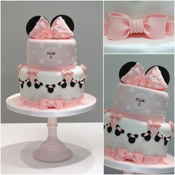 Tarta decorada Minnie – www.facebook.com/TiersTiaras
