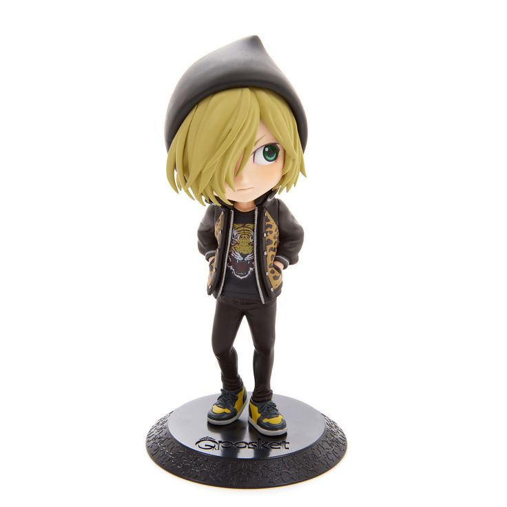 """Everyone's favorite Russian skater Yuri Plisetsky glides into Banpresto's Q Posket Prince collection with these adorable non-articulated figures! Choose from versions A (black T-shirt & hoodie), or B (purple T-shirt & hoodie), or pick up the set of both. Each of the figures stands 5.5"""" tall."""