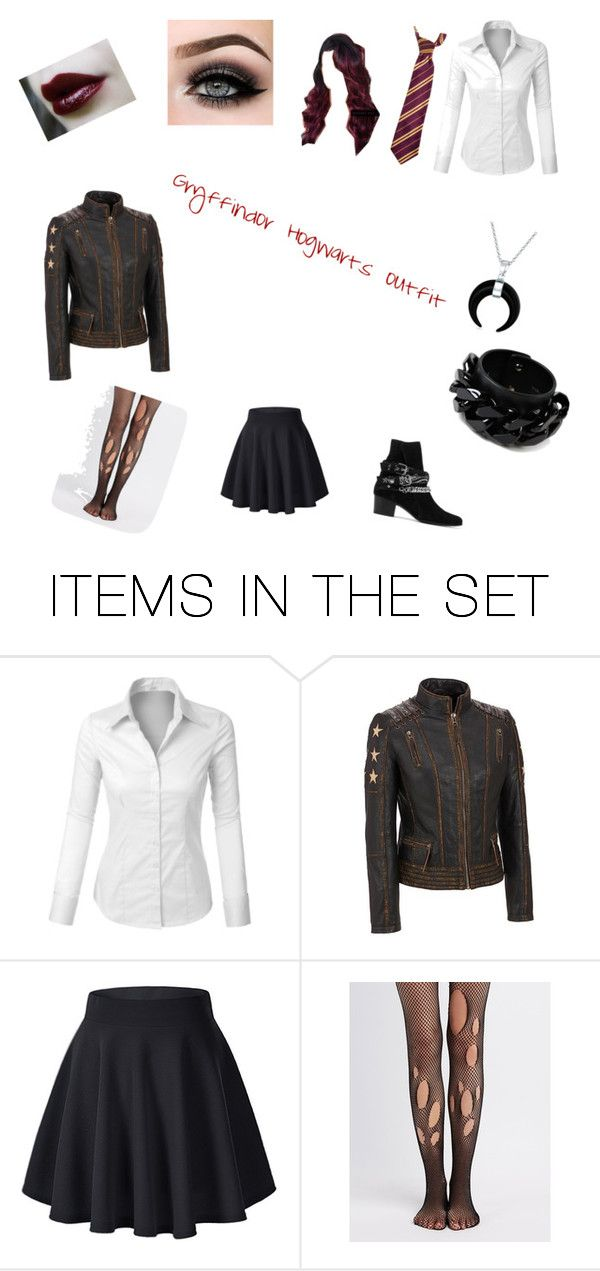"""""""Gryffindor Hogwarts outfit"""" by alexkenna on Polyvore featuring art"""