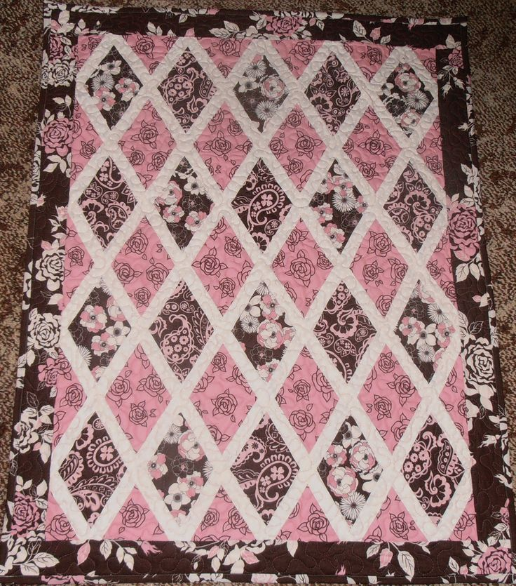 Cot Quilt I made for my Partner's granddaughter. Made from a free pattern, I can't remember the name of.