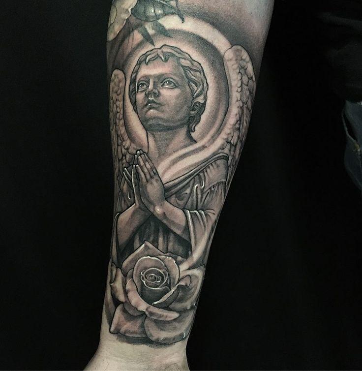 #religion #prayer #tattoo #rose #design #amazing #idea #awesome