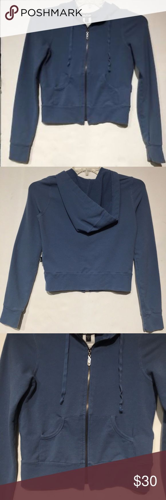 Women's Bebe Sport Zip-up A brand new, cotton, gorgeous blue, bebe sport zip-up hoodie, never worn or used, without tags.  It is the perfect hoodie to wear with jeans or when you want to dress down with a pair of your favorite sweat pants. A staple, must have piece for your wardrobe.    Brand new without tags, in perfect condition!!!!! Bebe Sport Tops Sweatshirts & Hoodies