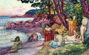 Bathers at Cap Benat - Theo van Rysselberghe - The Athenaeum
