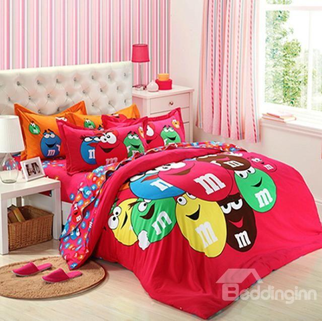 mini m m 39 s comforter m m pinterest dessin anim minis et billes. Black Bedroom Furniture Sets. Home Design Ideas