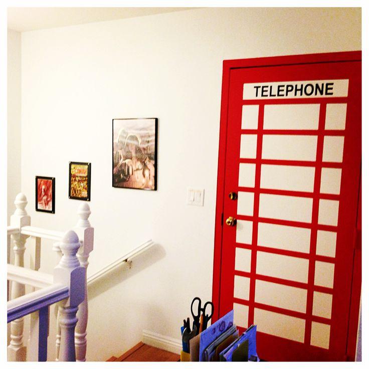 Man Cave Storage Condos : Comic room superman spiderman phonebooth door
