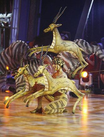 The Lion King cast performing on the Dancing With The Stars Results show