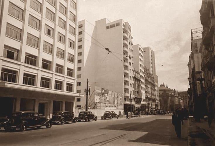 Descrição: Rua Xavier de Toledo próximo à rua 7 de Abril; 06-01-1940 (foto sequência)  / São Paulo do Passado