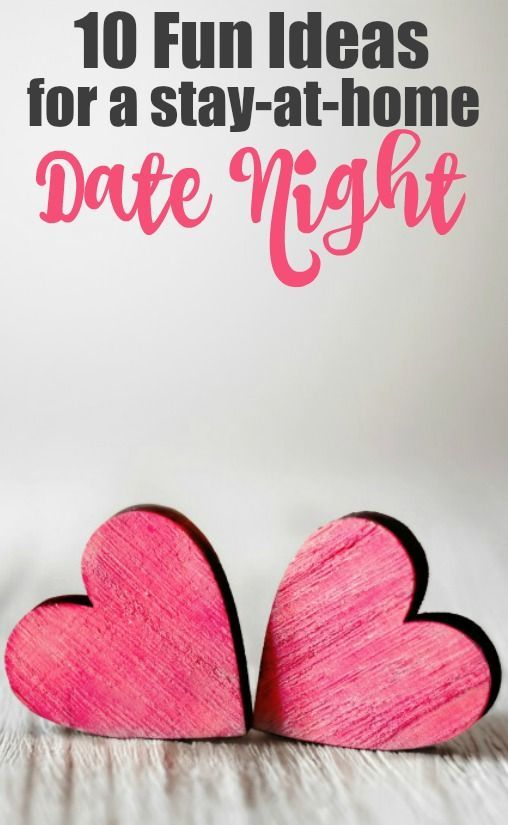 Fun ideas for a stay at home date night! Turn off the tv and try one of these