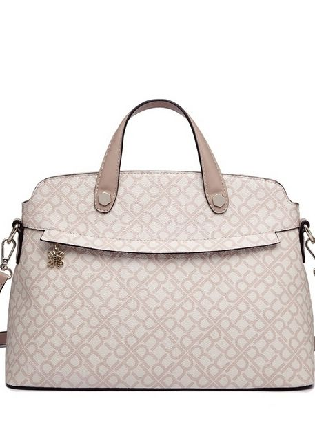 Delicate Geometric Print Double Handle Fashion Handbags