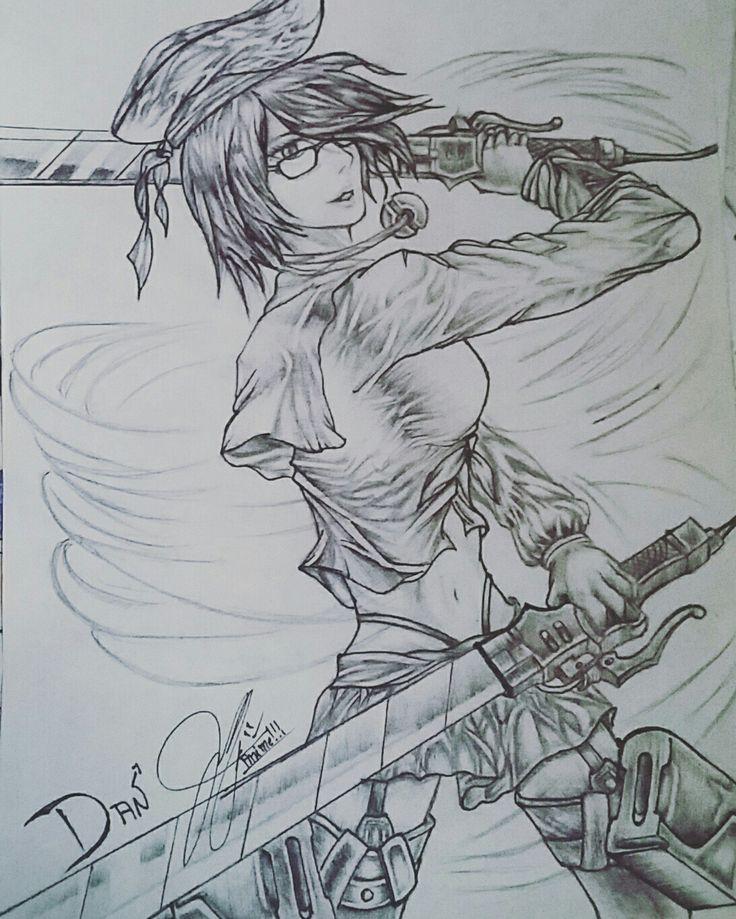Fanny - Mobile Legends Mikasa - anime version Anime IG@levon_toh #fanart