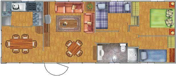 Planos de casas de 52 60m2 con 3 dormitorios planos de for Distribuir casa planos