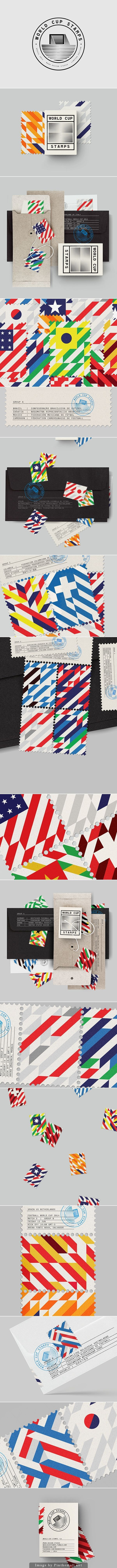 World Cup Stamps 2014 | Branding | Pinterest