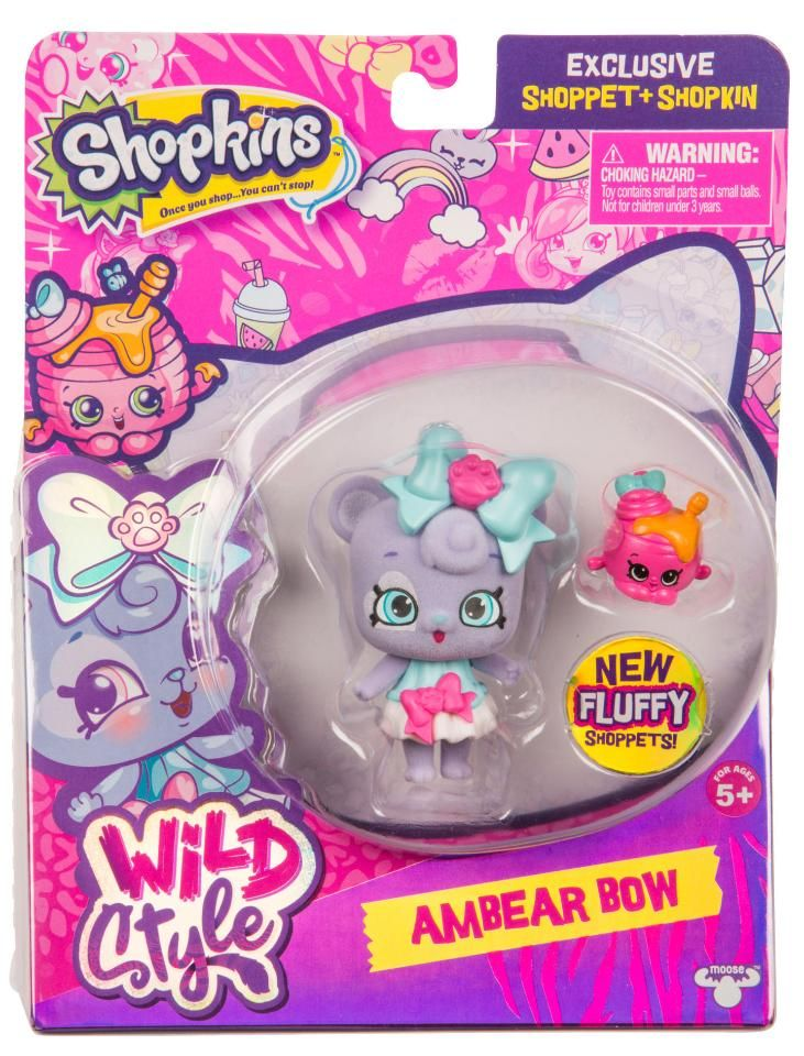 Shopkins Season 9 Wild Style Ambear Bow Shoppet Pack