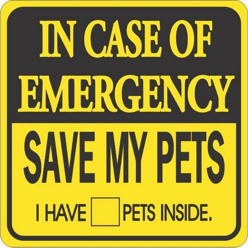 Emergency Pet Sign - I need to find or make something like this