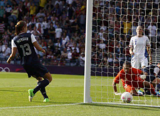 Alex Morgan, tap-in vs. France, July 25, 2012. (USA Women's National Soccer Team 2011/Facebook)