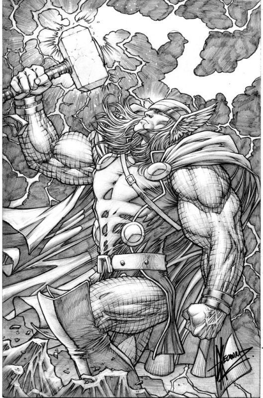THE MIGHTY THOR #11 Cover - FS - $4,500 Comic Art