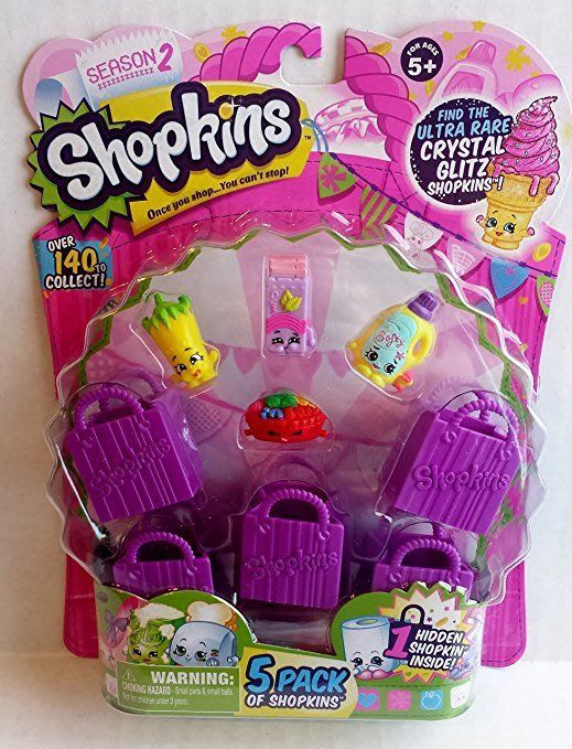 Shopkins Season 2 (5 pack) RARE Fifi Fruit Tart 2-050 Sarah Softner 2-093 Silly
