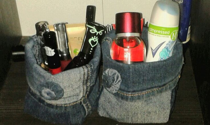 ♡♥♡Upcycling aus einer alten Jeans...kleine Utensilos für allerlei Krimskrams♡♥♡