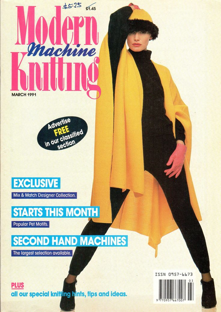 Free Machine Knitting Patterns To Download : 17 best images about Machine Knitting News Magazine on Pinterest For women,...
