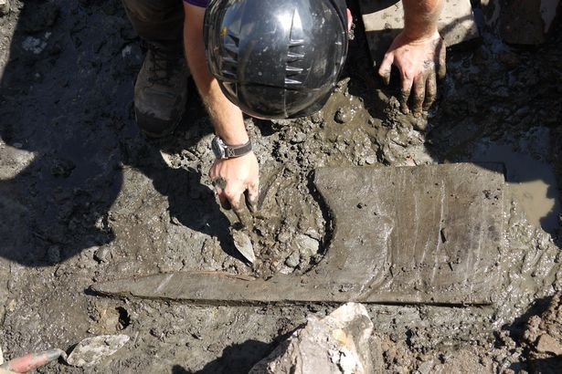 Wooden toilet seat found at Vindolanda