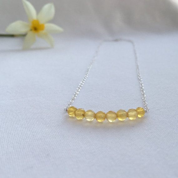 Citrine necklace November birthstone necklace gift for by Chalso