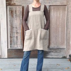 pinafore apron. I think I'd like one of these for my kitchen adventures.