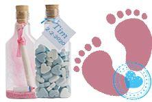 Flessenpost maakt en verzendt geboortekaartjes in een fles. Platte plastic flesjes of glazen flesjes die met de juiste verpakking per brievenbuspost verstuurd worden. Je kan flessenpost natuurlijk ook leuk gebruiken als bedankje !